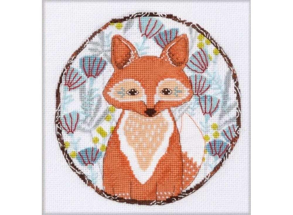 Купить Вышивка крестом, Набор для вышивания «Лисичка», Овен, 15x15 см, 957