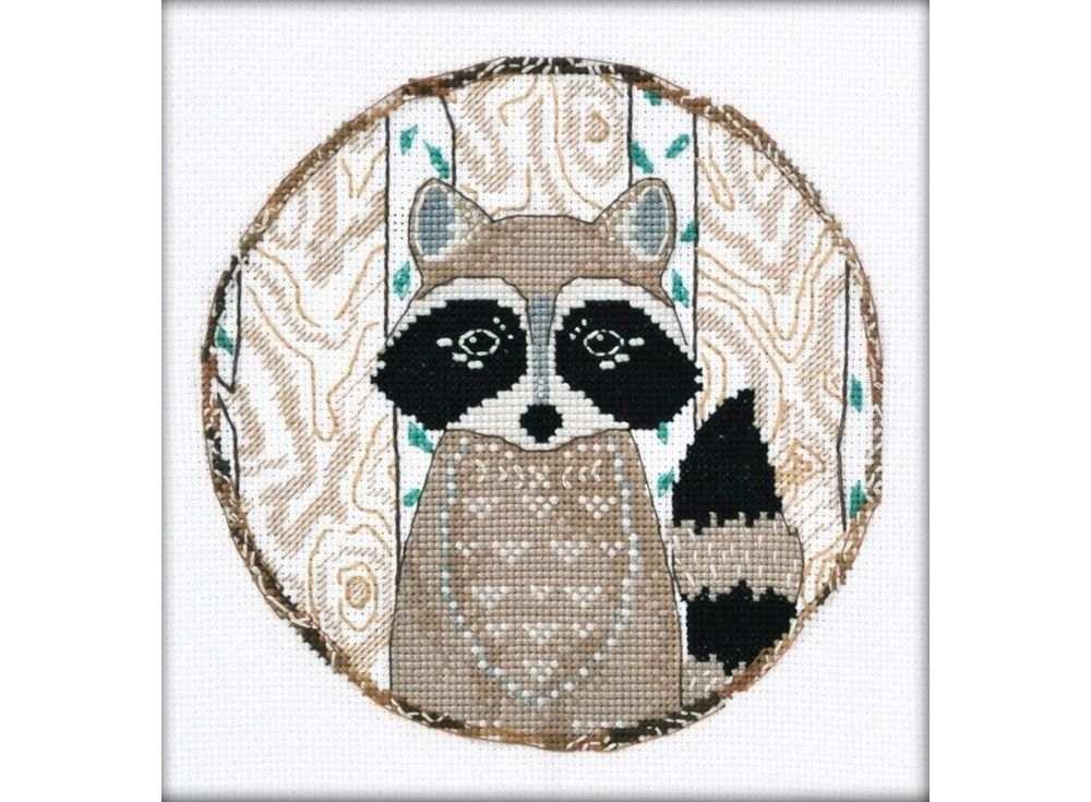 Купить Вышивка крестом, Набор для вышивания «Енот», Овен, 15x15 см, 958