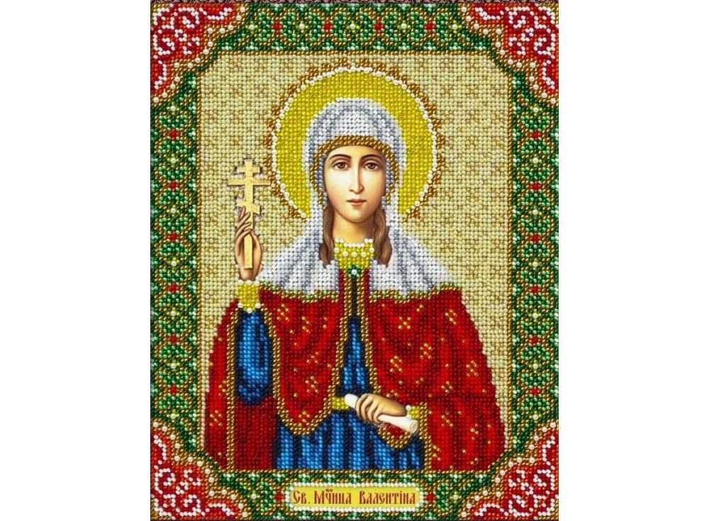 Купить Вышивка бисером, Набор вышивки бисером «Святая Валентина», Паутинка, 20x25 см, Б-1074