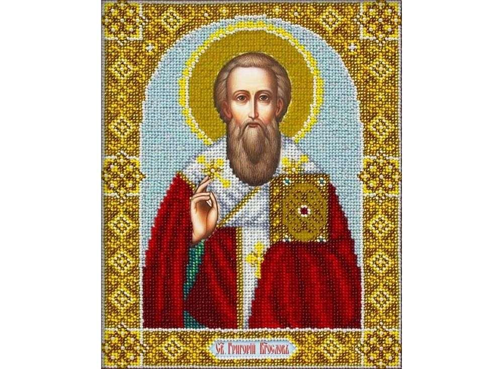 Купить Вышивка бисером, Набор вышивки бисером «Святой Григорий Богослов», Паутинка, 20x25 см, Б-1080