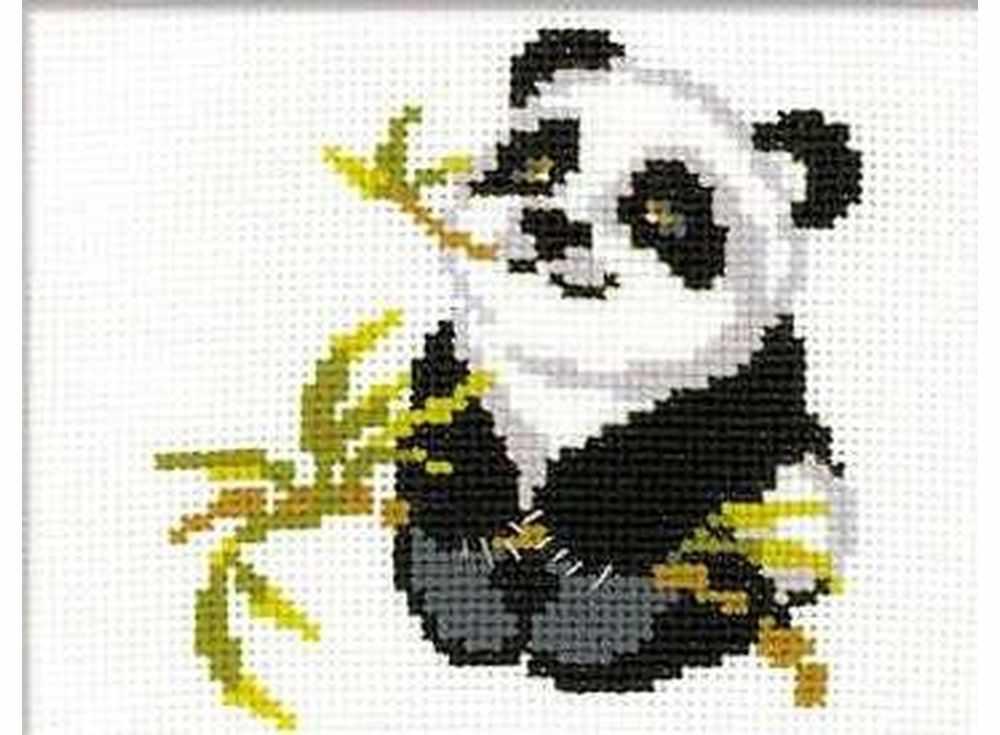 Купить Вышивка крестом, Набор для вышивания «Панда», Риолис (Веселая пчелка), 18x15 см, НВ061