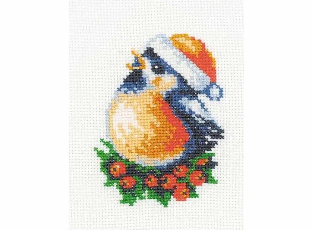 Купить Вышивка крестом, Набор для вышивания «Снегирь», Риолис (Веселая пчелка), 13x16 см, НВ106