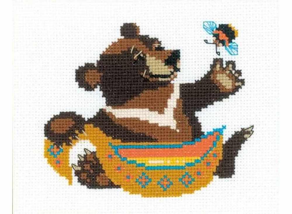 Купить Вышивка крестом, Набор для вышивания «Гималайский мёд», Риолис (Веселая пчелка), 16x13 см, НВ150