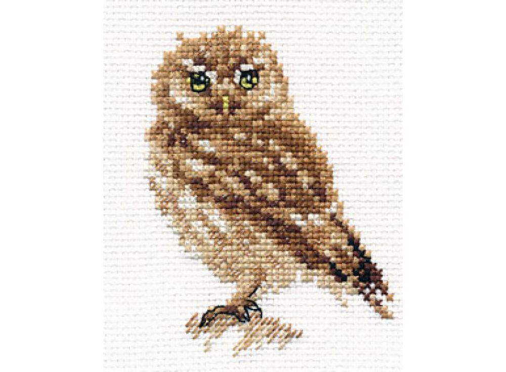 Купить Вышивка крестом, Набор для вышивания «Сова», Алиса, 8x9 см, 0-166