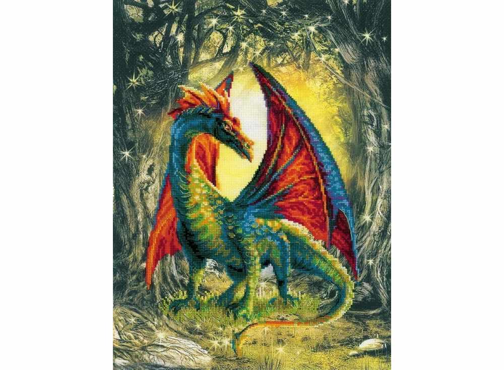 Купить Вышивка крестом, Набор для вышивания «Лесной дракон», Риолис (Сотвори Сама), 30x40 см, 0057 РТ