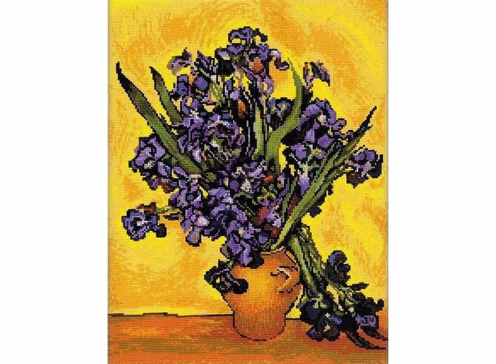 Купить Вышивка крестом, Набор для вышивания «Ирисы. Ван Гог», Риолис (Сотвори Сама), 30x40 см, 1087
