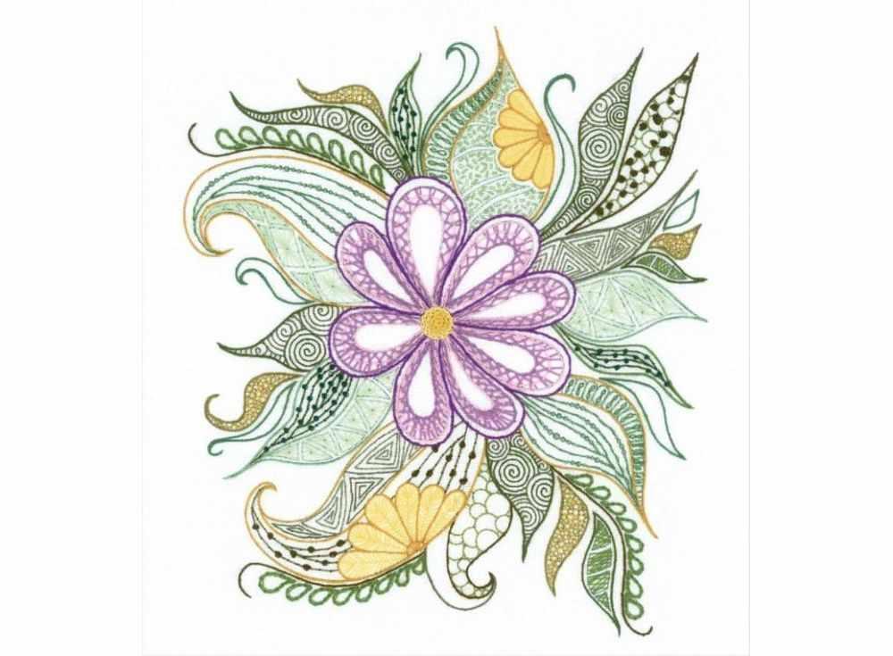 Купить Вышивка крестом, Набор для вышивания «Прекрасный цветок», Риолис (Сотвори Сама), 30x34 см, 1588