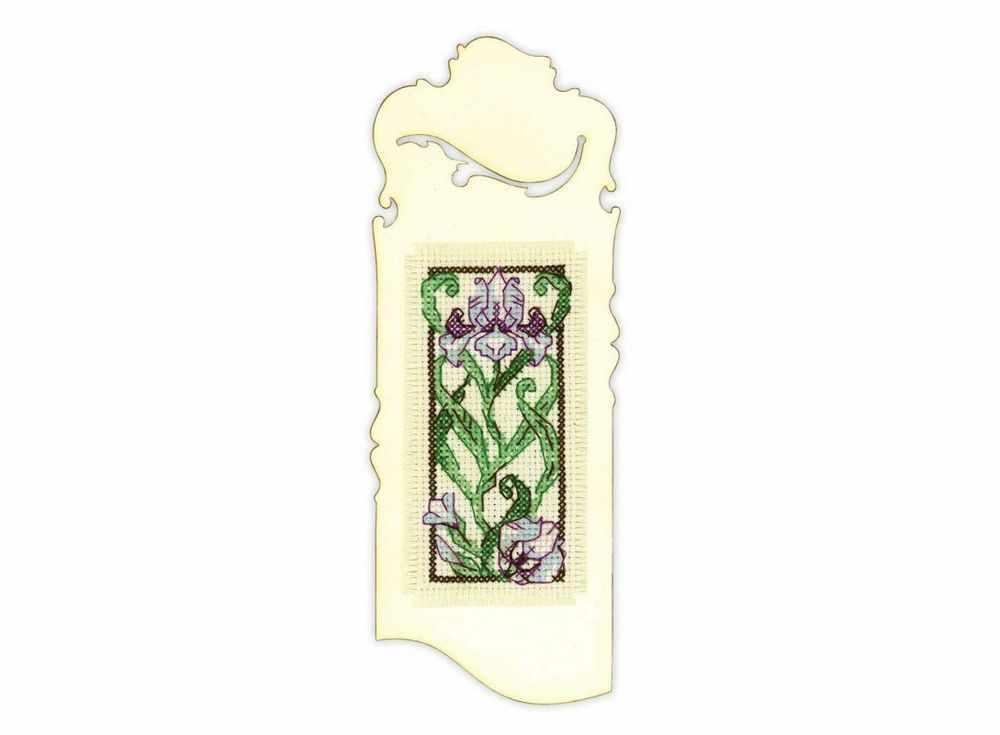 Купить Вышивка крестом, Набор для вышивания «Закладка. Цветущий ирис», Риолис (Сотвори Сама), 6x16 см, 1614АС