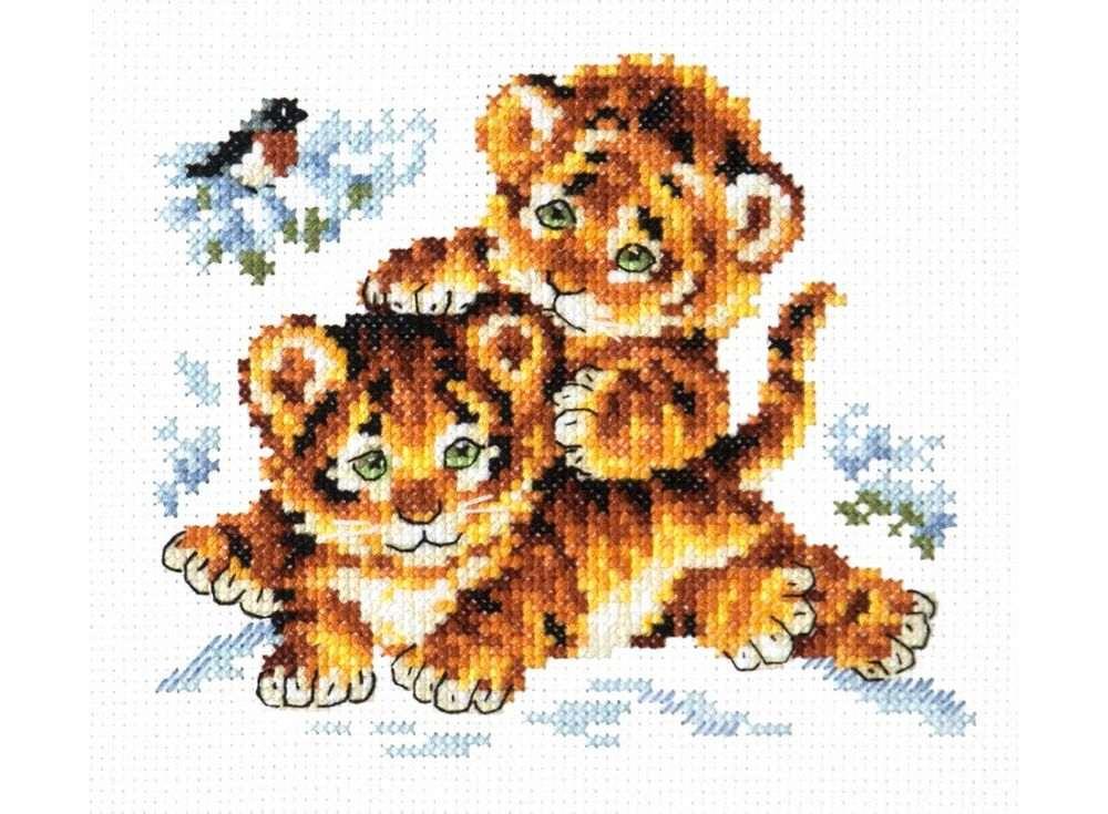Купить Вышивка крестом, Набор для вышивания «Безмятежное детство», Чудесная игла, 14x12 см, 18-87