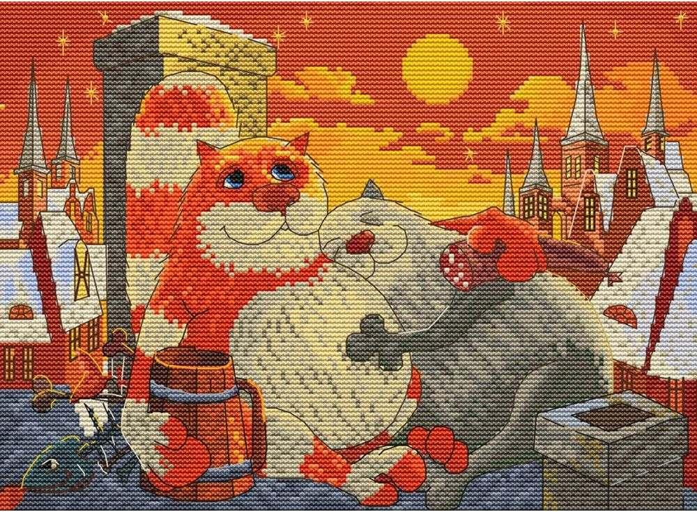 Купить Вышивка крестом, Набор для вышивания «Поздний ужин», Белоснежка, Россия, 27x35 см, 181-14
