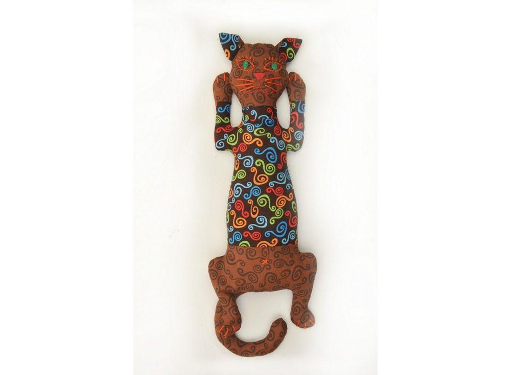 Купить Набор для шитья «Кот-Кофеман», Перловка, высота 34, 5 см, КП-202