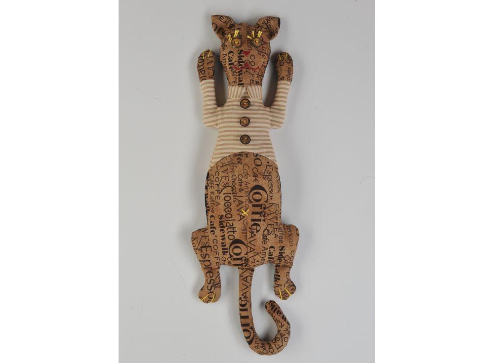 Купить Набор для шитья «Кот день-ночь», Перловка, высота 34, 5 см, КП-203