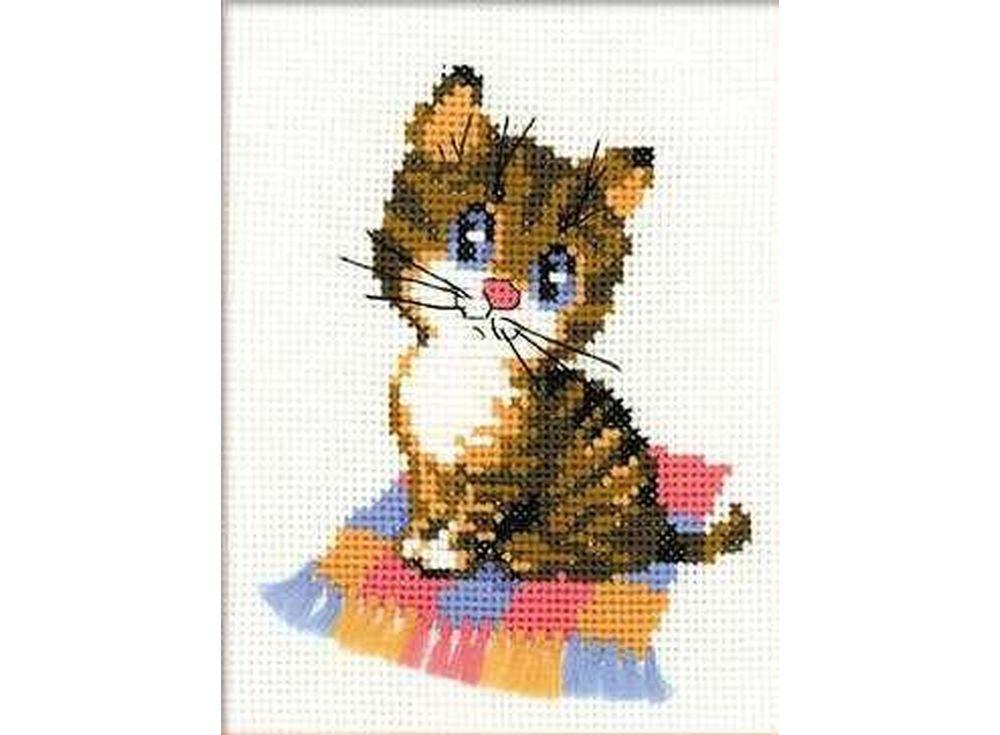 Купить Вышивка крестом, Набор для вышивания «Котёнок», Риолис (Веселая пчелка), 15x18 см, НВ068