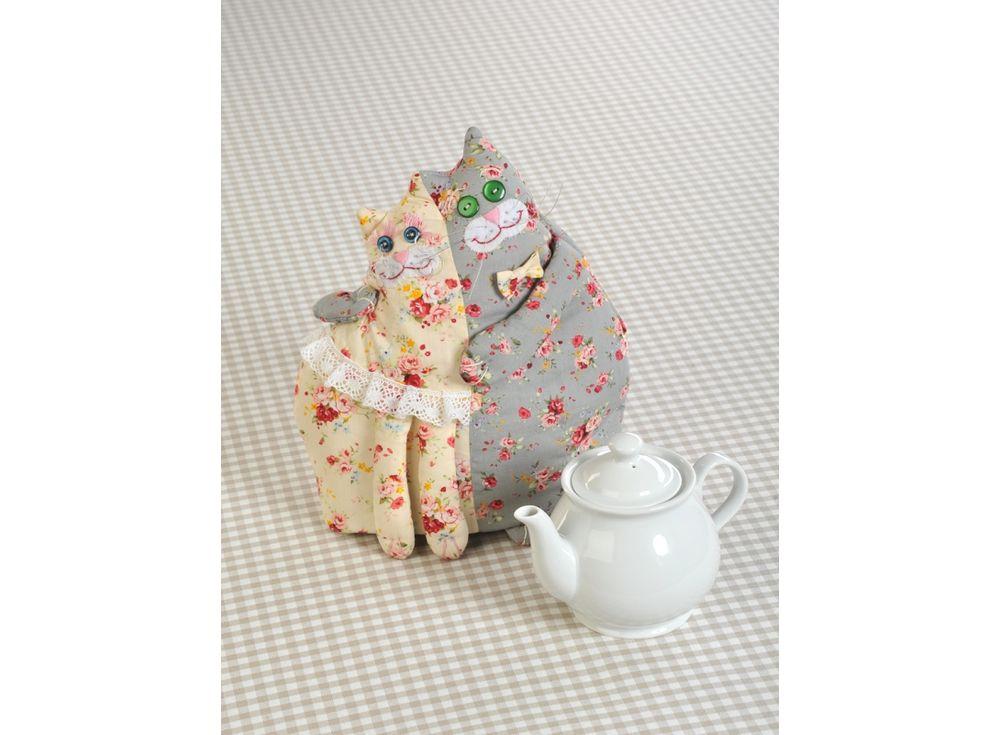 Купить Набор для шитья «Кошки-Грелки» (грелка на чайник), Перловка, высота 21 см, окружность внизу - 56 см, ПГЧ-1101
