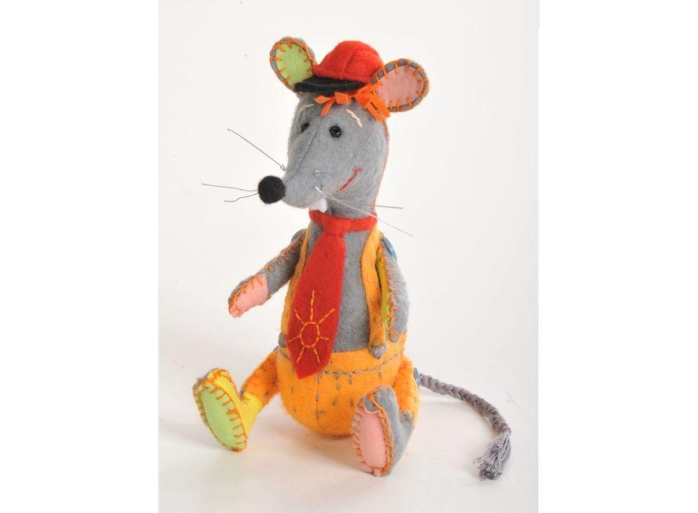 Купить Набор для шитья «Озорной мышонок», Перловка, высота сидя 15, 5 см, стоя 18 см, ПФЗД-1002