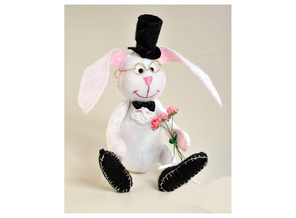 Купить Набор для шитья «Ушастый джентельмен», Перловка, высота стоя 21 см, сидя 15, 5 см, ПФЗД-1006