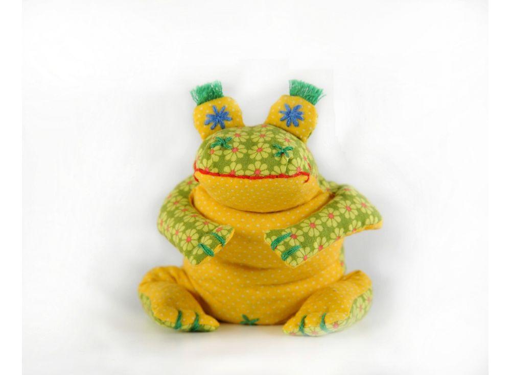 Купить Набор для шитья «Лягушонок-Ква», Перловка, высота 18 см, П-114