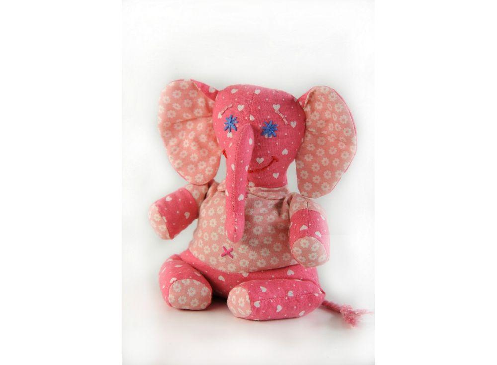 Купить Набор для шитья «Слонёнок-Фантик», Перловка, высота 19 см, П-115