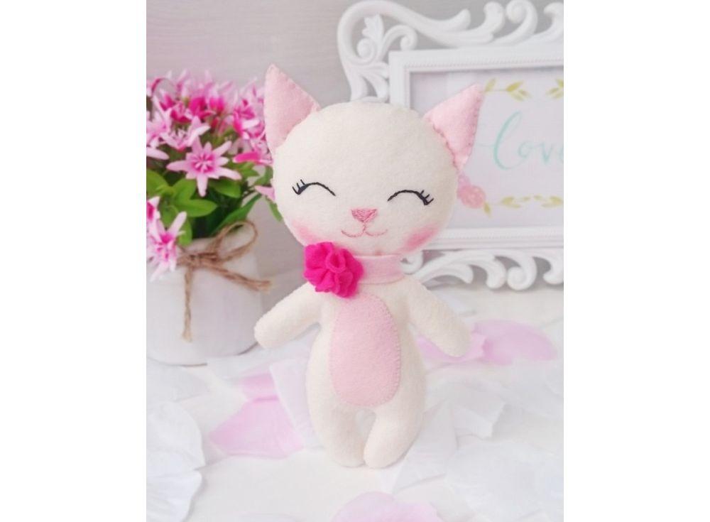 Купить Набор для шитья игрушки «Котенок Снежок», ТУТТИ, высота 16 см, 03-13