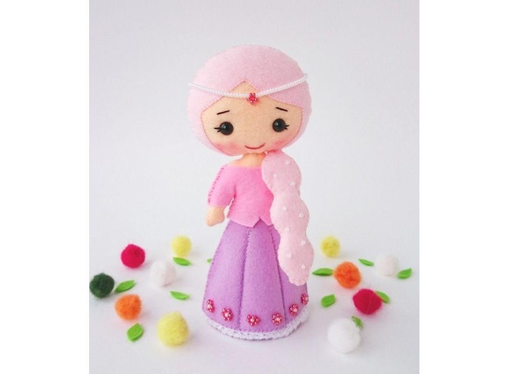 Купить Набор для шитья игрушки «Принцесса», ТУТТИ, высота 16 см, 04-01