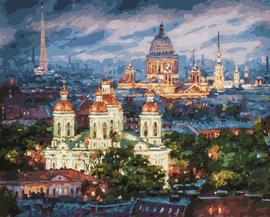 Купить Картина по номерам «Все краски вечера. Санкт-Петербург», Белоснежка, 201-AB