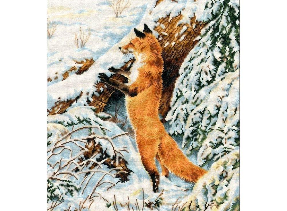 Купить Вышивка крестом, Набор для вышивания «Рыжая охотница», Овен, 27x31 см, 975
