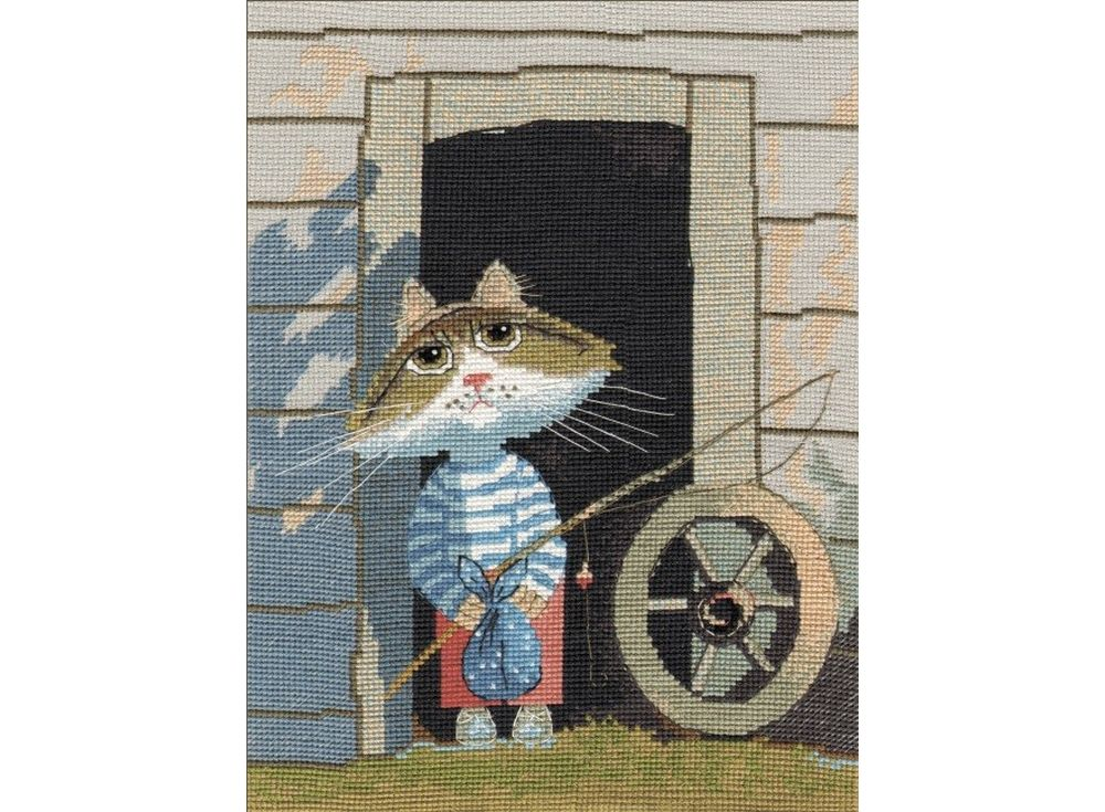 Купить Вышивка крестом, Набор для вышивания «Рыбачок», Овен, 20x27 см, 977