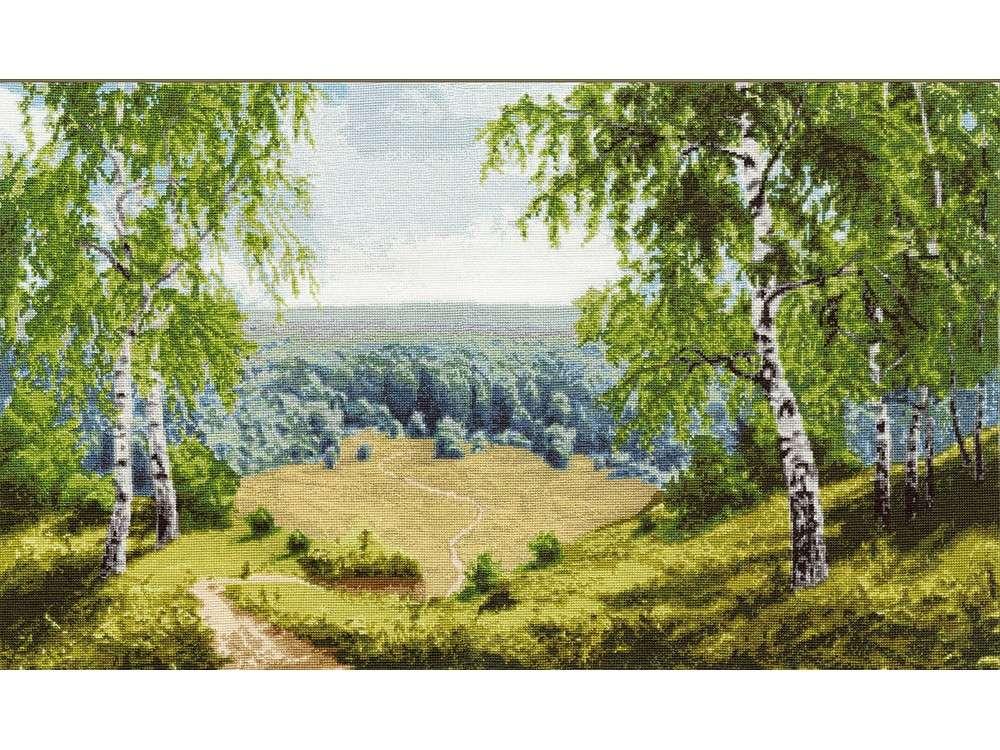 Купить Вышивка крестом, Набор для вышивания «Лесные дали», Золотое Руно, 33, 5x55, 8 см, ВМ-028