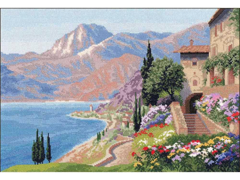 Купить Вышивка крестом, Набор для вышивания «Солнечный берег», Золотое Руно, 28, 8x41, 3 см, ДЛ-033