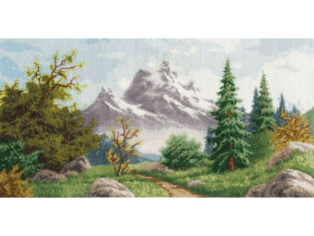 Купить Вышивка крестом, Набор для вышивания «Алтайский пейзаж», Золотое Руно, 23, 3x45, 8 см, ЛП-049