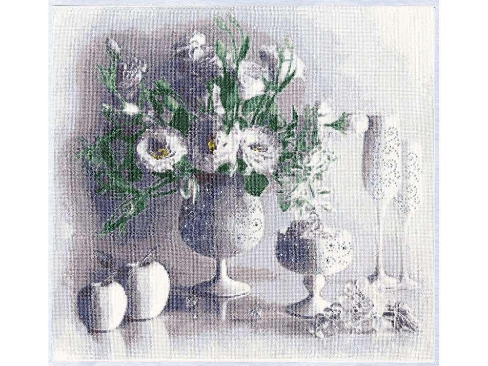Купить Вышивка крестом, Набор для вышивания «Белый натюрморт», Золотое Руно, 40x45 см, СЖ-012
