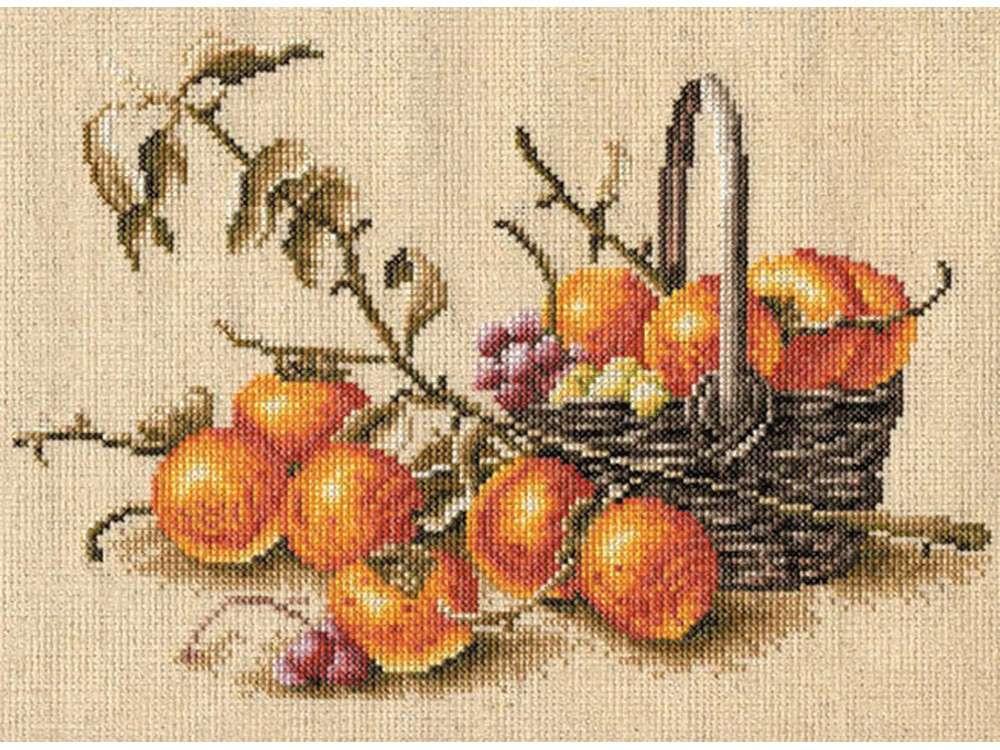 Купить Вышивка крестом, Набор для вышивания «Хурма», Золотое Руно, 21x27 см, ФИ-002