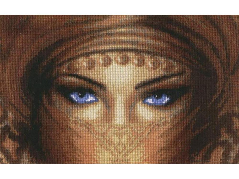 Купить Вышивка крестом, Набор для вышивания «Взгляд», Золотое Руно, 17x27, 5 см, Ф-013