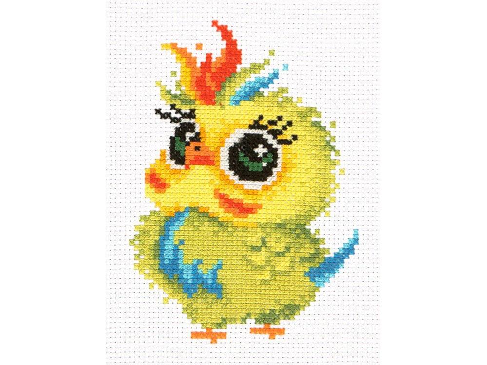Купить Вышивка крестом, Набор для вышивания «Попугайчик», Чудесная игла, 11x16 см, 10-31
