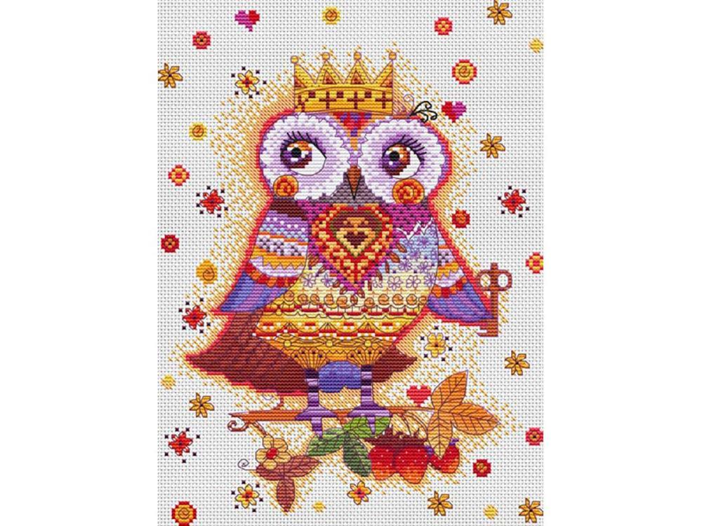 Купить Вышивка крестом, Набор для вышивания «Сова с ключиком», Белоснежка, Россия, 20x27, 5 см, 131-14