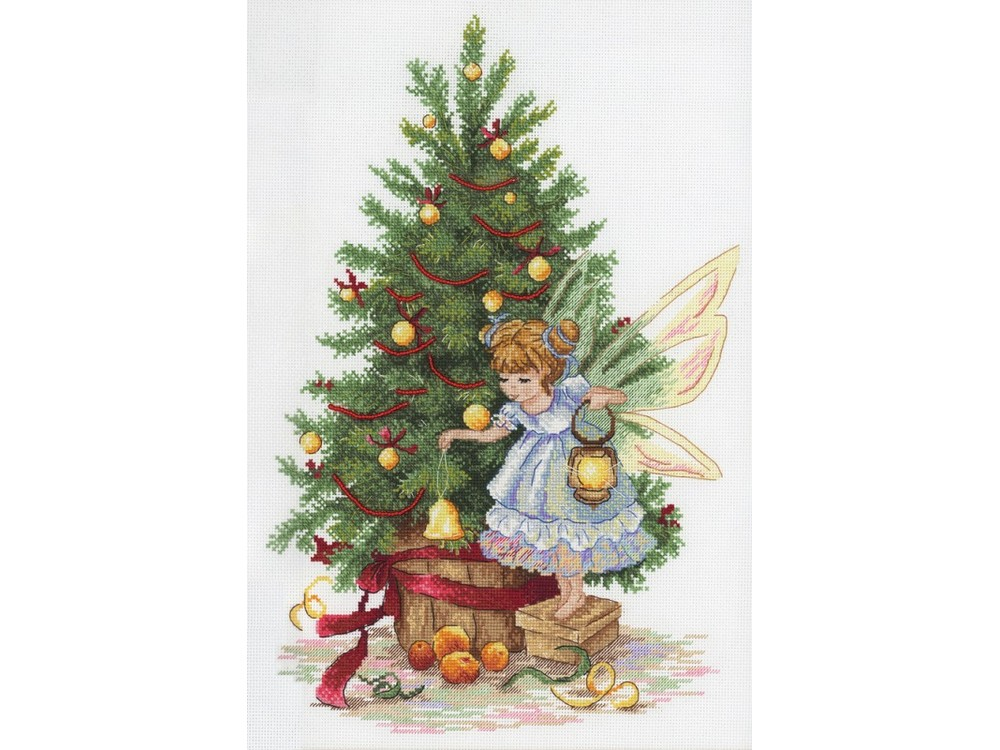 Купить Вышивка крестом, Набор для вышивания «Новогодняя фея», МП-студия, 32x25 см, НВ-631