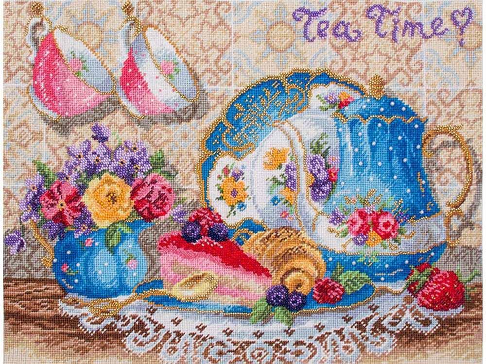 Купить Смешанная техника, Набор для вышивания «Французский завтрак», Матренин Посад, 37x49 см, 0028/БН
