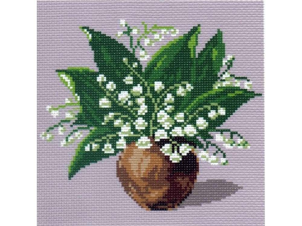 Купить Вышивка крестом, Набор для вышивания «Ландыши», Матренин Посад, 28x37 см, 0064/Н-1