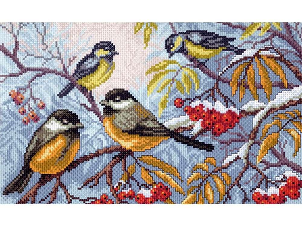 Купить Смешанная техника, Набор для вышивания «Синички», Матренин Посад, 28x37 см, 0012/БН