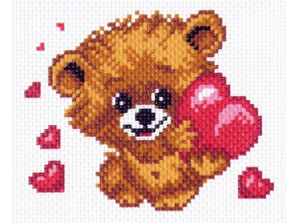 Купить Вышивка крестом, Набор для вышивания «От всего сердца», Матренин Посад, 16x20 см, 1423/Н