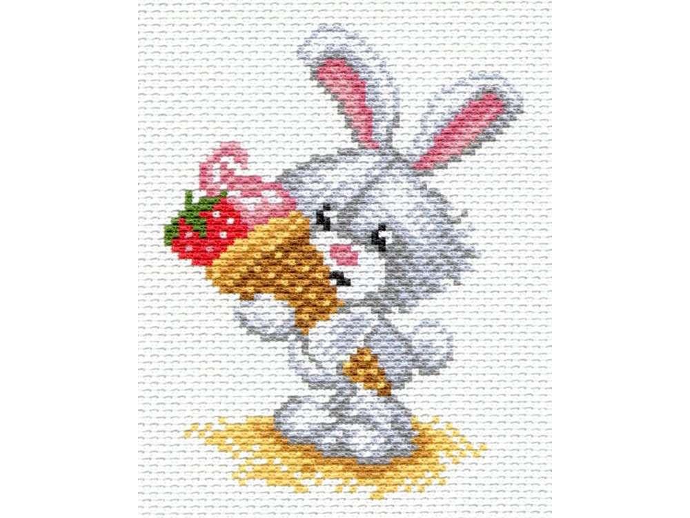 Купить Вышивка крестом, Набор для вышивания «Зайка», Матренин Посад, 16x20 см, 1656/Н