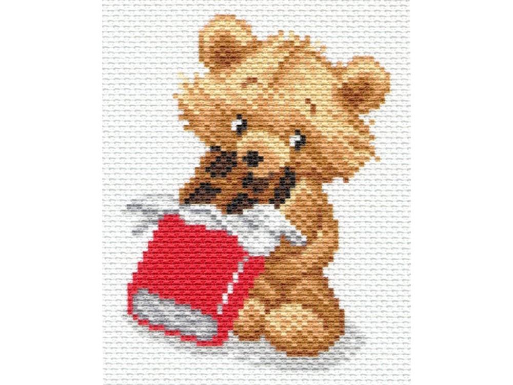 Купить Вышивка крестом, Набор для вышивания «Сладкоежка», Матренин Посад, 16x20 см, 1664/Н