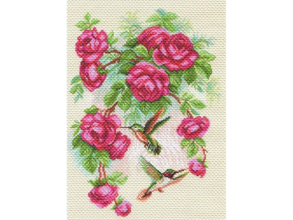 Купить Вышивка крестом, Набор для вышивания «Розы и колибри», Матренин Посад, 37x49 см, 1755/Н