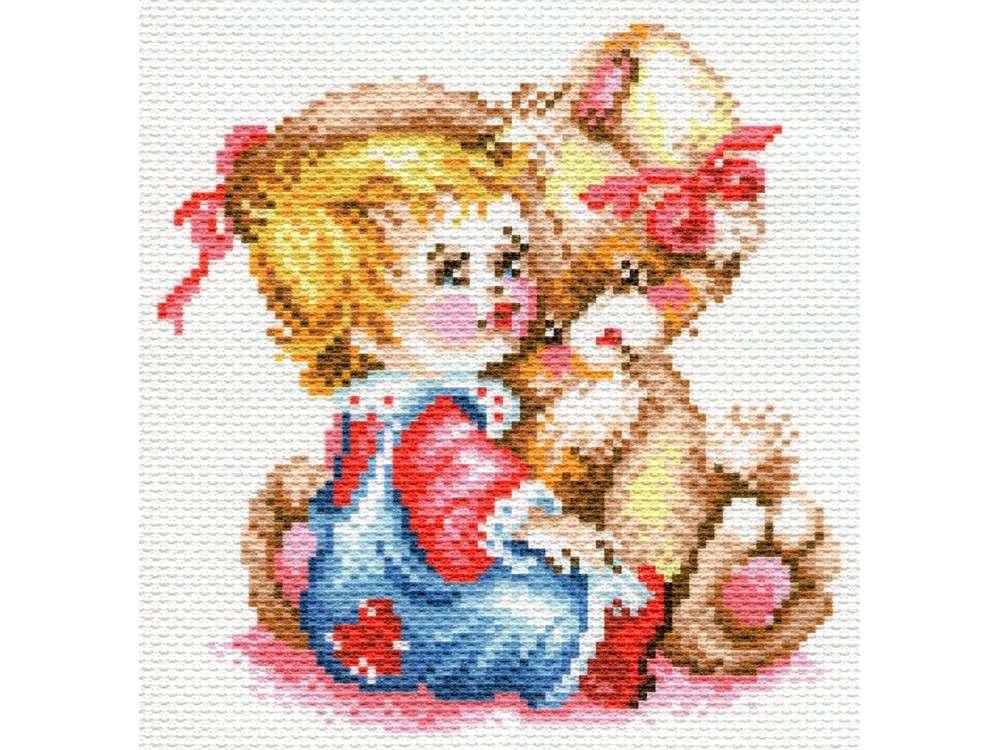Купить Вышивка крестом, Набор для вышивания «Первый друг», Матренин Посад, 28x37 см, 1780/Н-1