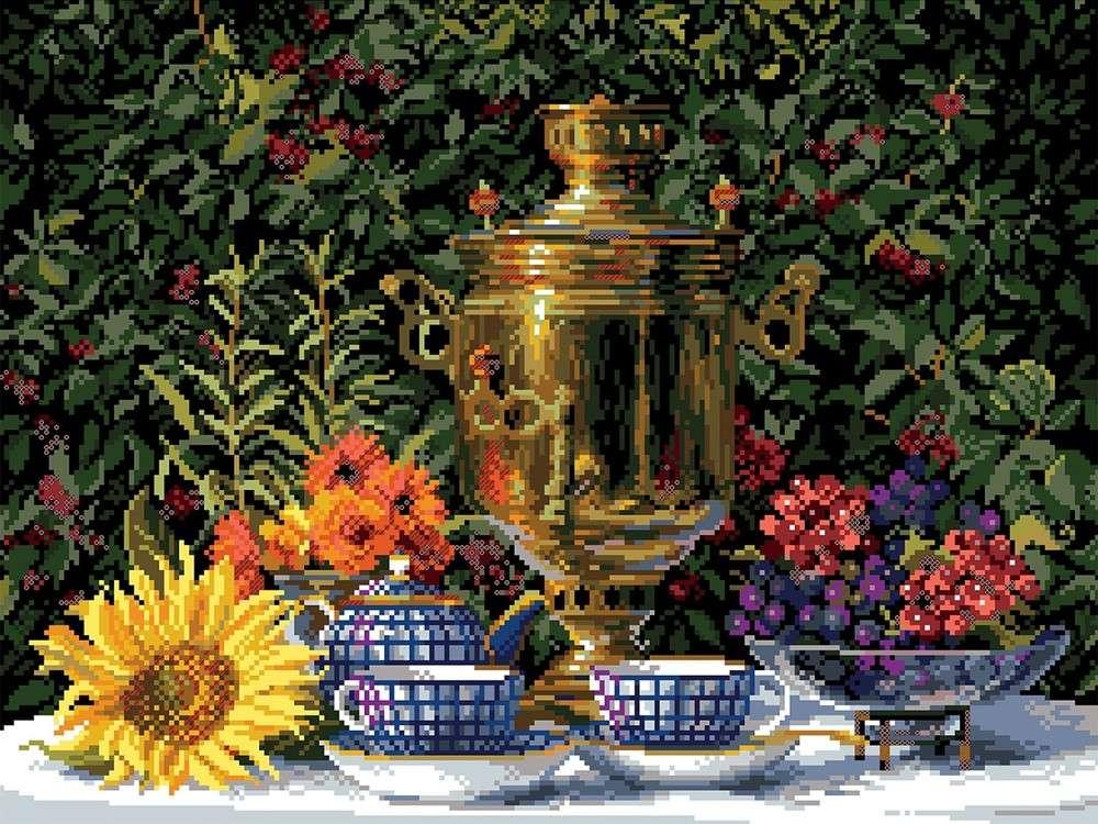Купить Вышивка крестом, Набор для вышивания «Приготовления к чаю», Матренин Посад, 37x49 см, 1842/Н