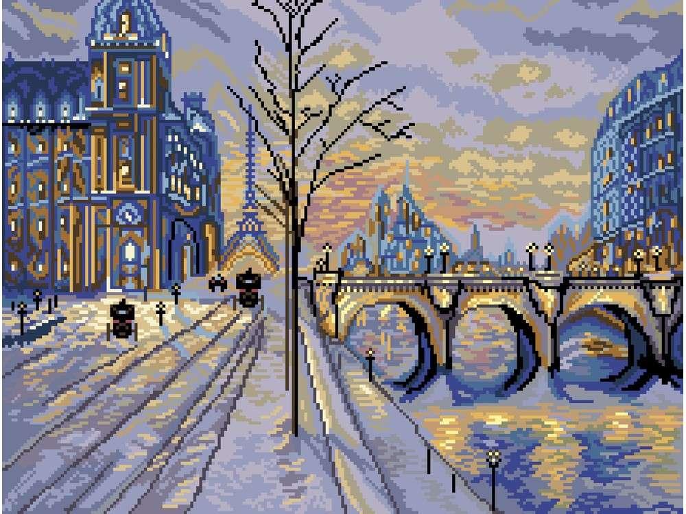 Купить Вышивка крестом, Набор для вышивания «Виды Парижа», Матренин Посад, 37x49 см, 1850/Н