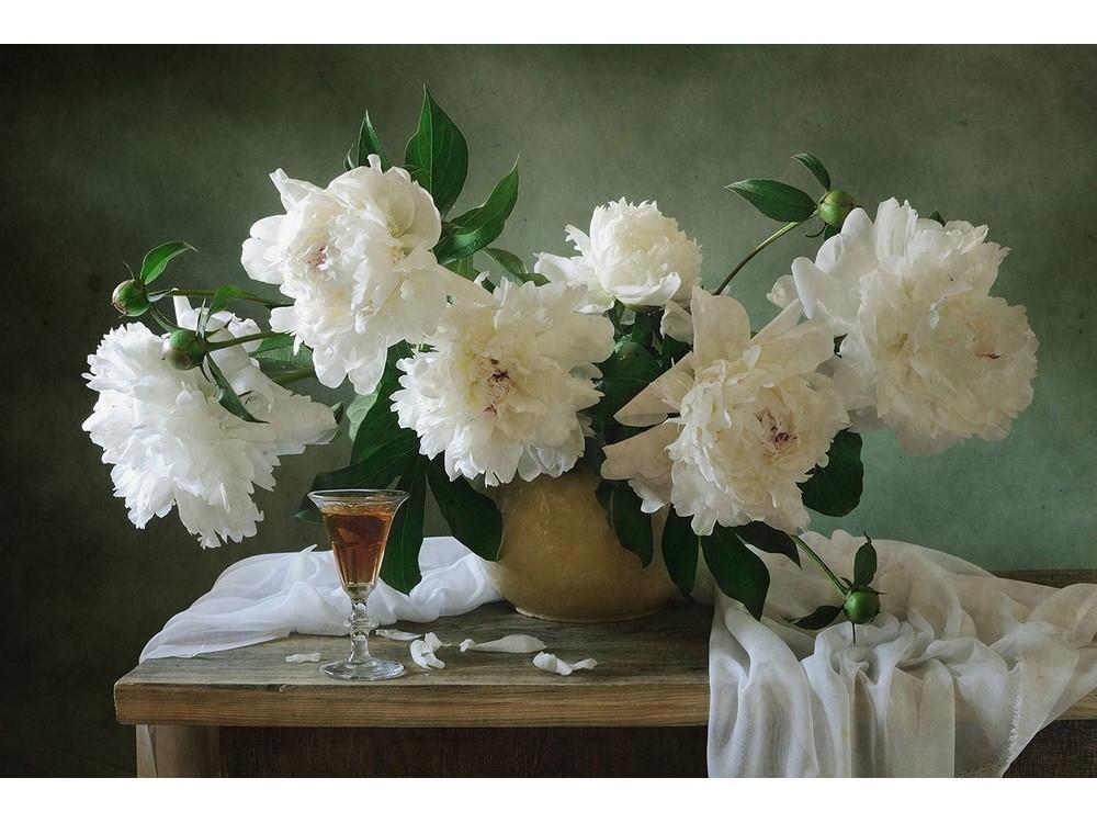 Купить Вышивка крестом, Набор для вышивания «Небесные пионы», Матренин Посад, 37x49 см, 1854/Н