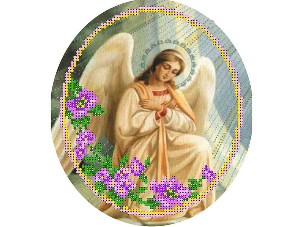Купить Вышивка бисером, Набор вышивки бисером «Ангел 1», Матренин Посад, 27x24 см, 0022/БП