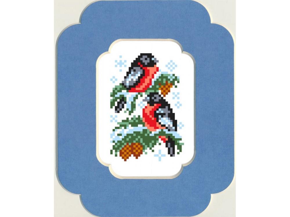 Купить Вышивка бисером, Набор вышивки бисером «Снегири», Матренин Посад, 13x18 см, 0052/БП