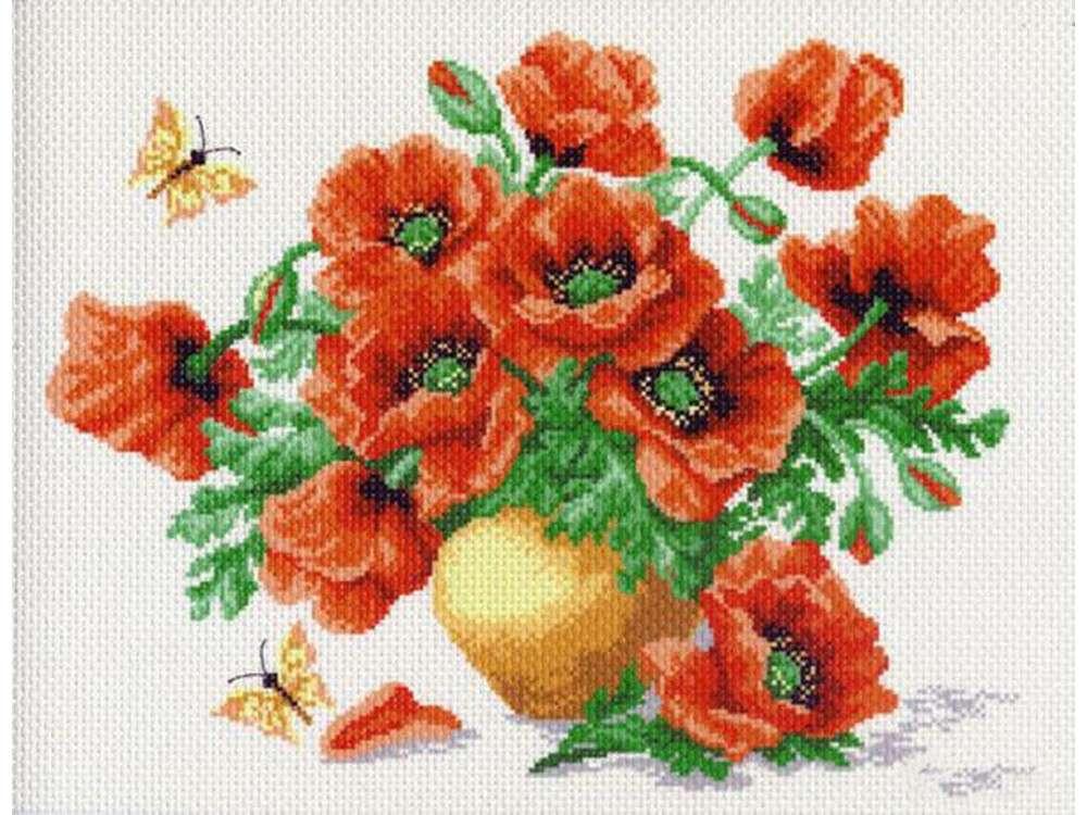Купить Вышивка крестом, Набор для вышивания «Маки», Матренин Посад, 37x49 см, 0523/Н